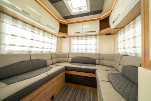 3 – Unleashed Motorhome Hire – Autoroller 746 – Rear Lounge