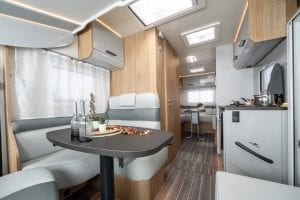 6 – Unleashed Motorhome Hire – Pegaso 745 – Dining