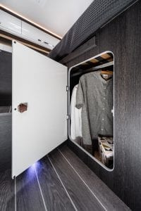 Motorhome hire fleet - zefiro 685 under bed storage
