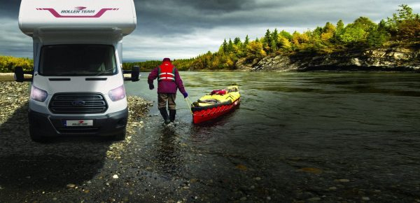 Motorhome hire picture of canoe on river